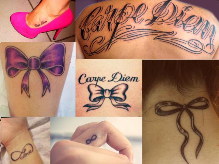 Les tattoos insens s irr fl chis notre corps est un temple d corons en les murs - Tatouage carpe diem femme ...